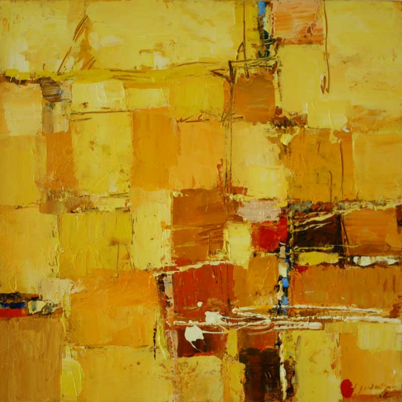 Abstract Painting from Indonesia - Prosperity I | NOVICA
