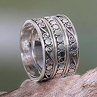 Sterling silver stacking rings, 'Together' (set of 3)