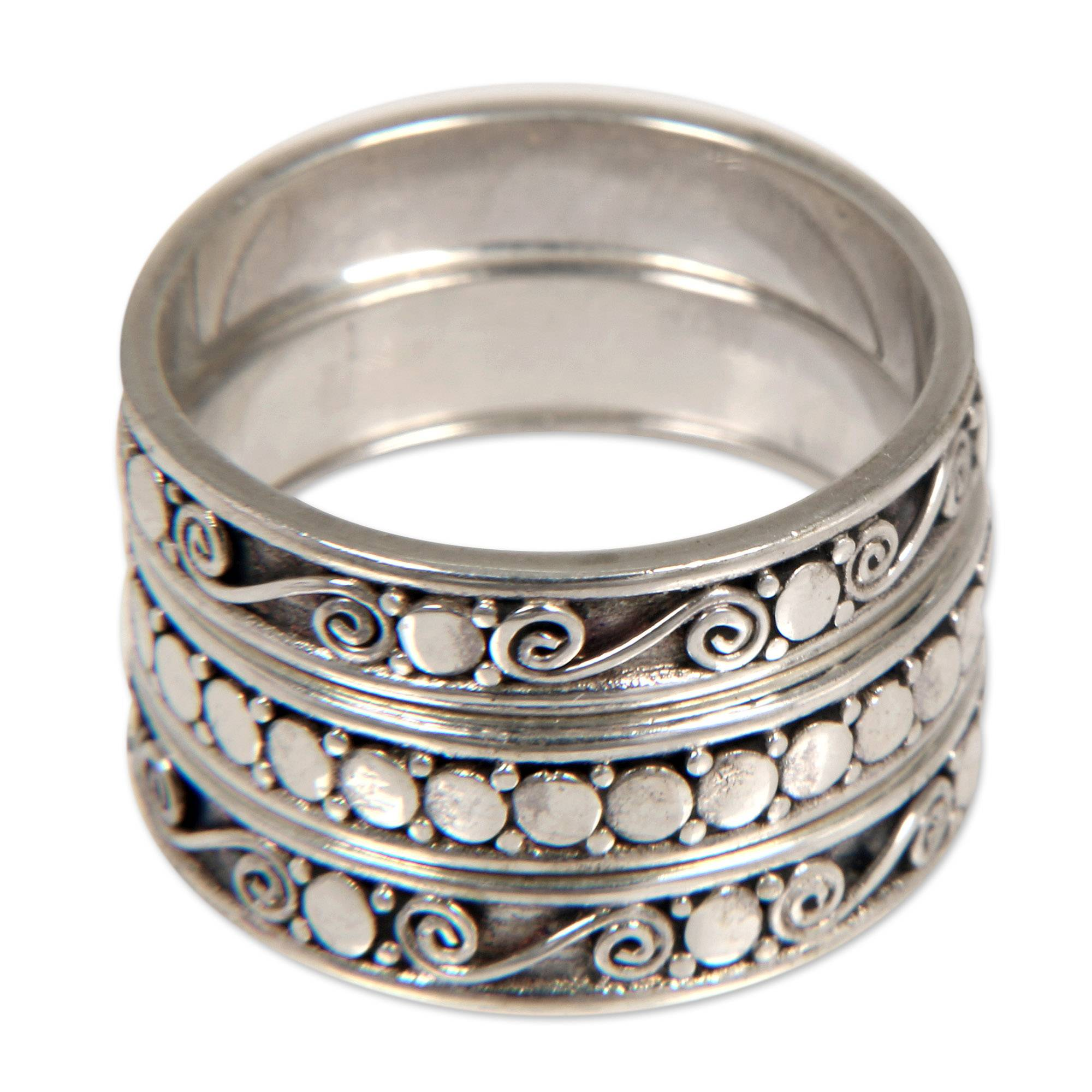 Old New Stock Set of 2 Sterling Silver Stacking Rings