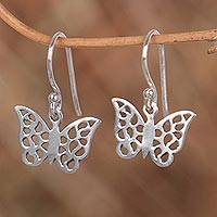 Sterling silver dangle earrings, 'Free as a Butterfly' - Sterling Silver Dangle Earrings