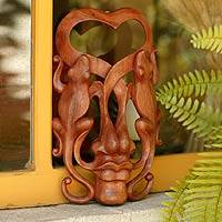 Wood mask, 'Song of Love'