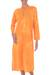 Cotton caftan, 'Orange Dragonfly Mysteries' - Women's Batik Cotton Caftan (image 2a) thumbail