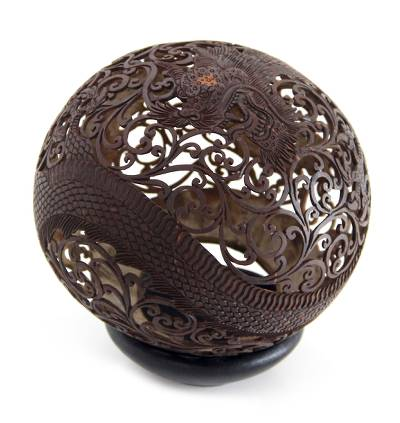 Coconut Shell Carving from Indonesia