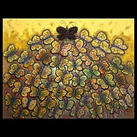 'A New Leader' - Original Expressionist Butterfly Painting