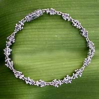 Sterling silver link bracelet, 'Cloud Ladder' - Women's Sterling Silver Link Bracelet