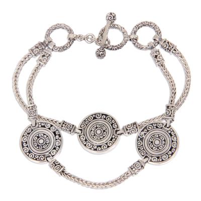 Indonesian Good Fortune Sterling Silver Bracelet
