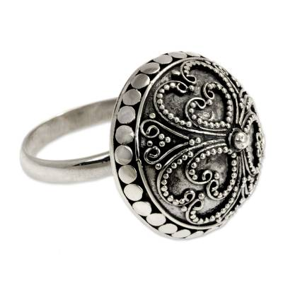 Artisan Crafted Sterling Silver Domed Ring