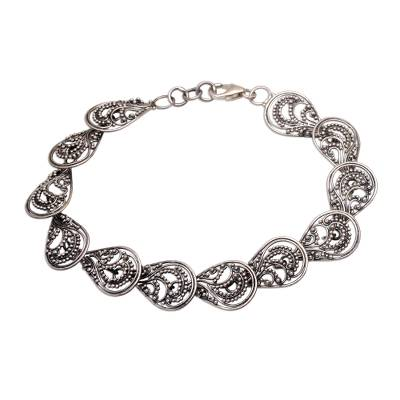 Handcrafted Sterling Silver Link Bracelet from Indonesia