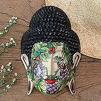 Wood mask, 'Morning Glory' - Wood mask