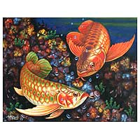 'Loyalty' - Realist Fish Painting from Indonesia