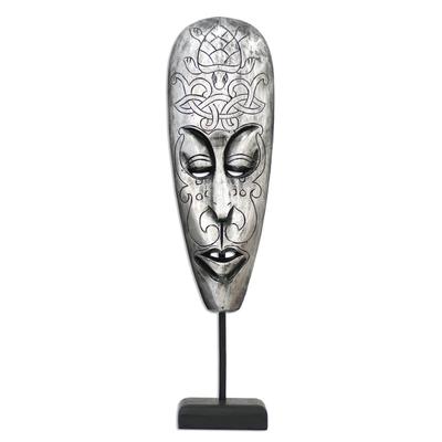 Wood mask, 'Lombok Turtle I' - Wood mask