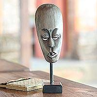 Wood mask, 'Lombok Man II' - Wood mask