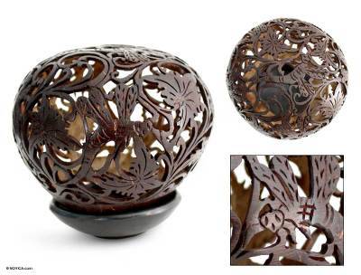 Coconut shell sculpture, Dancing Dragonflies