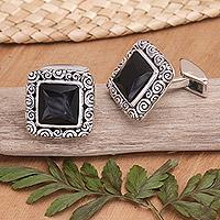 Onyx cufflinks,