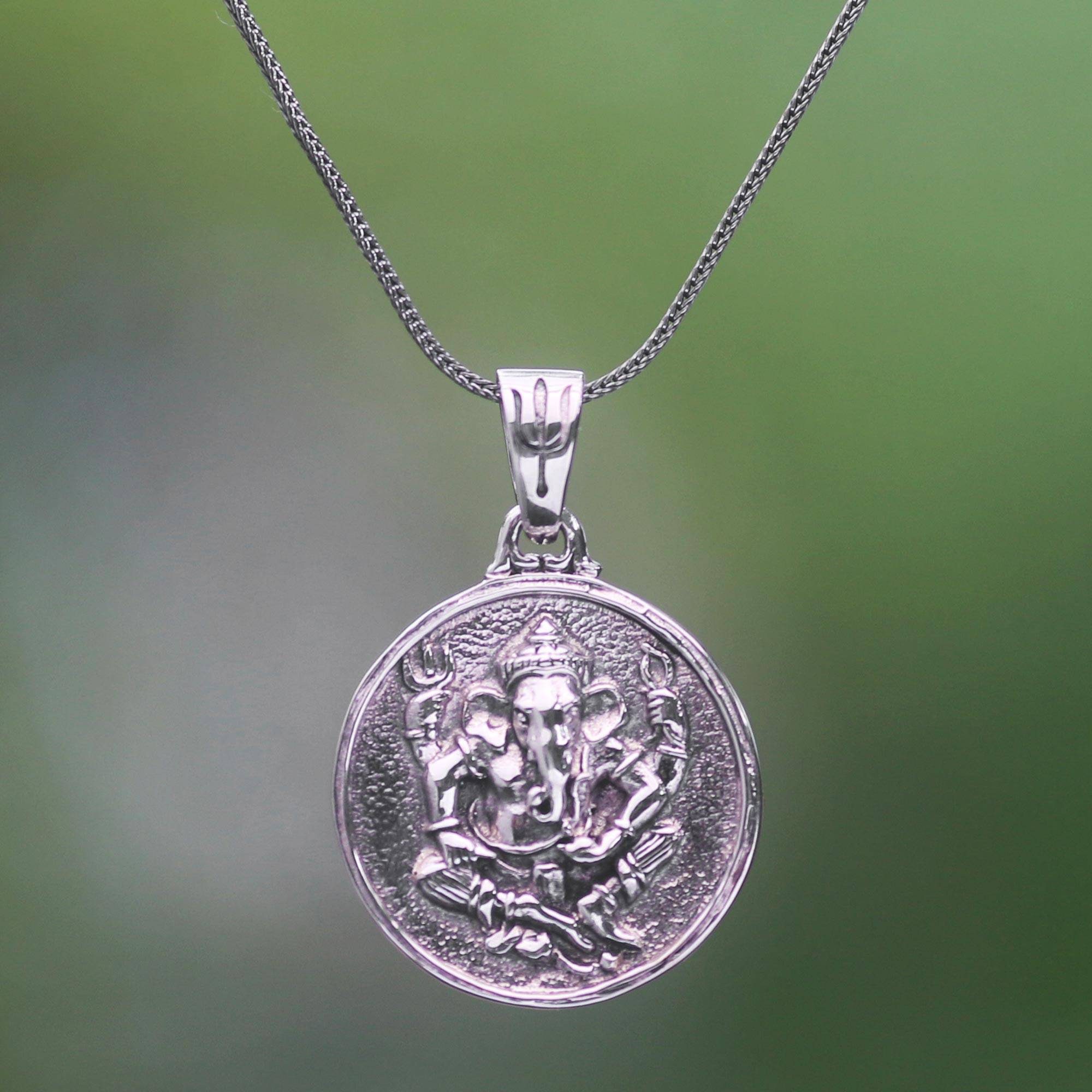 4ea3b01df Unicef UK Market | Sterling Silver Hindu Pendant Necklace - Gracious ...