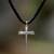 Men's sterling silver cross necklace, 'Holy Sacrifice' - Men's Sterling Silver Cross Necklace  (image 2) thumbail