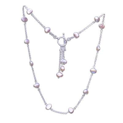 Pearl pendant necklace, 'Excellence' - Pearl pendant necklace