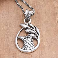 Sterling silver pendant necklace, 'Wishful' - Sterling silver pendant necklace