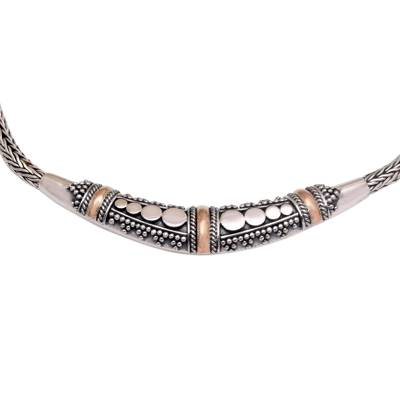 Gold accent necklace, 'Eden' - Women's Gold Accent Chain Necklace