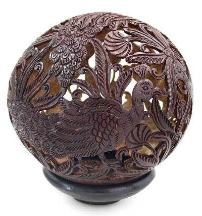 Handcrafted Coconut Shell Sculpture