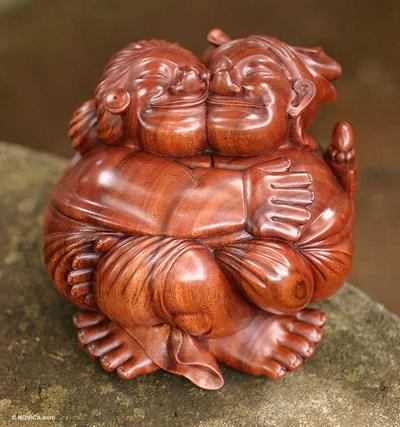 Unique Romantic Wood Sculpture