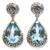 Blue topaz dangle earrings, 'Azure Teardrops' - Sterling Silver and Blue Topaz Dangle Earrings (image 2a) thumbail
