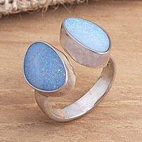 Opal cocktail ring, 'Never Apart'