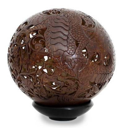 Hand Made Coconut Shell Sculpture