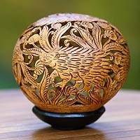 Coconut shell sculpture, 'Javanese Anteaters' - Coconut shell sculpture