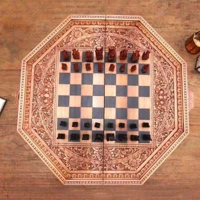 Wood chess set, The General
