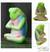 Wood sculpture, 'Froggie Prayer' - Handcrafted Wood Sculpture (image 2) thumbail