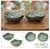 Ceramic bowls, 'Betel Leaf' (pair) - Indonesian Green Ceramic Bowls (Pair) thumbail