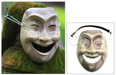 Wood mask, Laughter