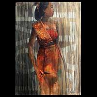 'Love Bali' - Acrylic Portrait from Indonesia