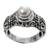 Pearl cocktail ring, 'Inspiration' - Pearl cocktail ring (image 2b) thumbail