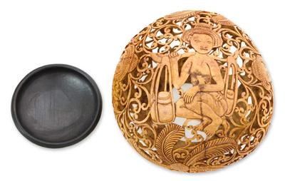Cultural Coconut Shell Sculpture
