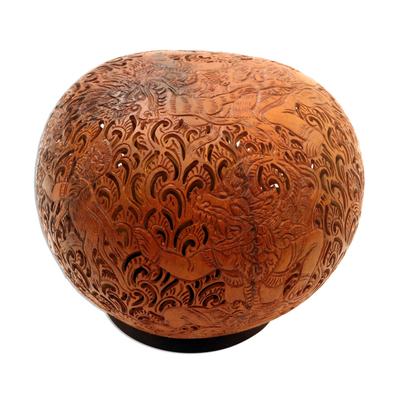 Unique Coconut Shell Sculpture
