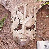 Wood mask, 'Innocent Girl'