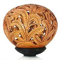 Coconut shell sculpture, 'Banana Grove' - Coconut shell sculpture