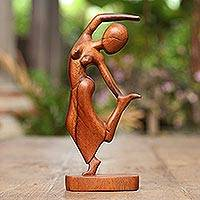 Wood sculpture, 'Spirit Dancer' - Wood sculpture