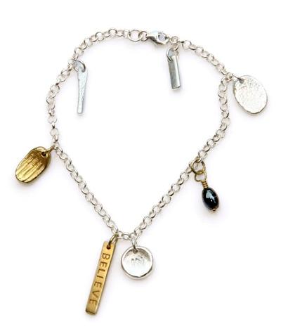 Gold overlay charm bracelet
