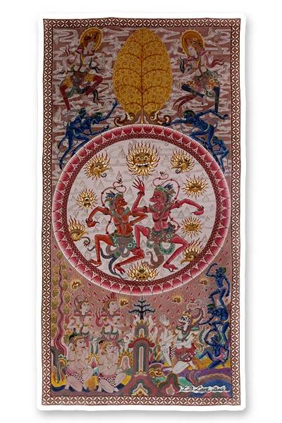 UNICEF Market   Batik Cotton Wall Art from Indonesia - Brothers in Love