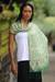 Silk batik shawl, 'Emerald Garden' - Unique Indonesian Women's Batik Silk Shawl (image 2) thumbail
