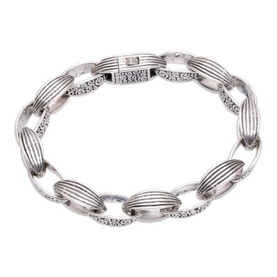 Fair Trade Sterling Silver Link Bracelet