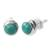 Sterling silver stud earrings, 'Blue Moons' - Silver and Reconstituted Turquoise Stud Earrings (image 2a) thumbail