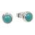 Sterling silver stud earrings, 'Blue Moons' - Silver and Reconstituted Turquoise Stud Earrings (image 2d) thumbail