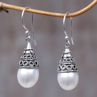 Pearl dangle earrings, Mystic Bells