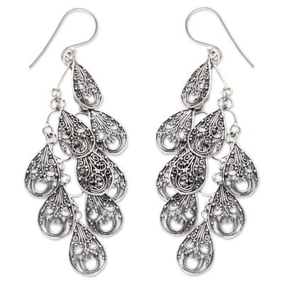 Sterling silver filigree earrings, 'Infinite Finesse' - Fair Trade Women's Sterling Silver Filigree Earrings