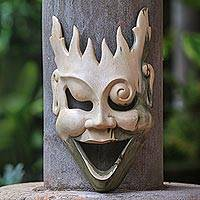 Wood mask, 'Man of Fire' - Unique Modern Wood Mask
