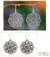 Sterling silver flower earrings, 'Gardenia Halo' - Floral Sterling Silver Dangle Earrings thumbail